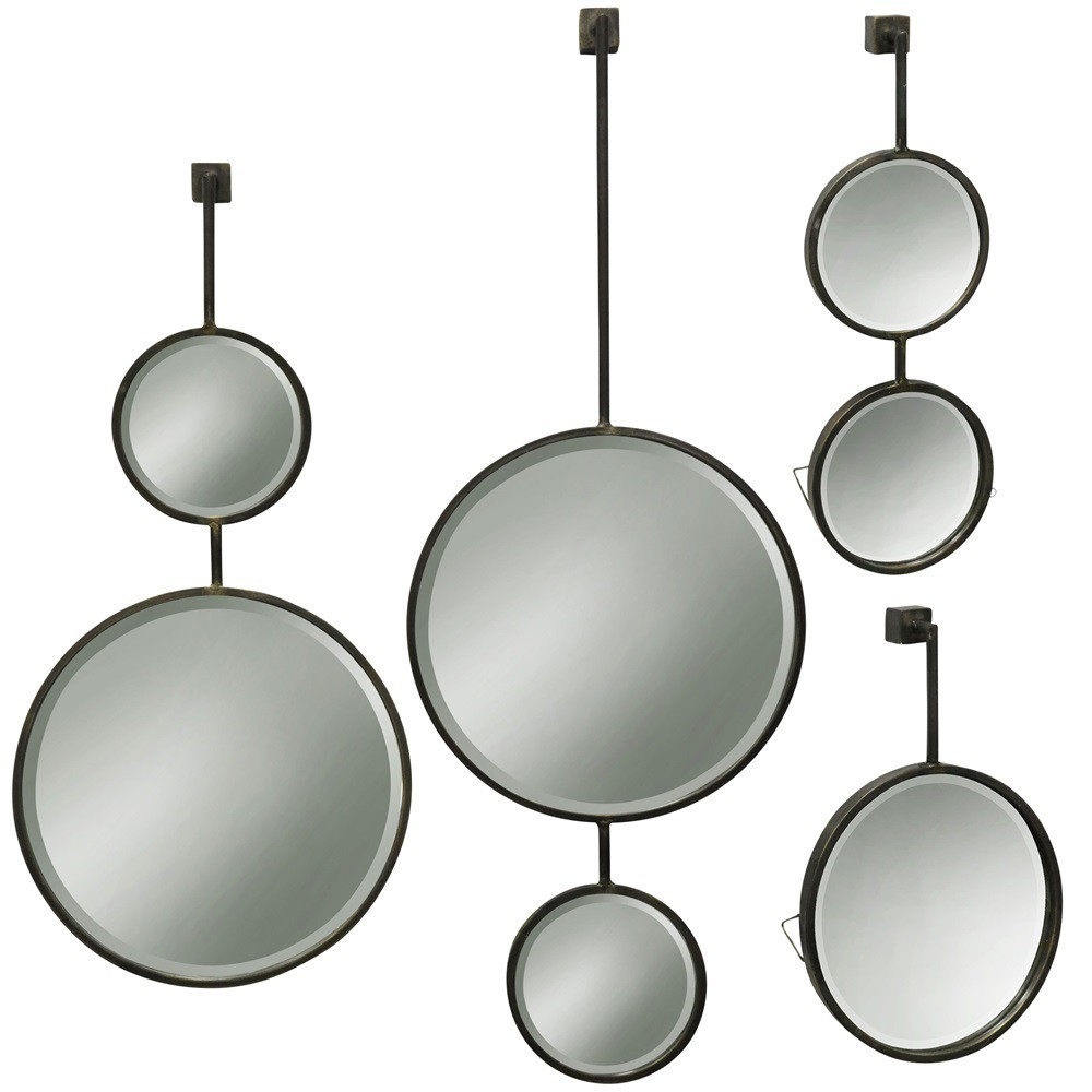 42 4pc Beveled Droplet s Metal (Grey) Finish Wall Mirror Metal - StyleCraft