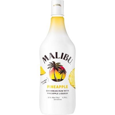 Malibu Caribbean Rum with Pineapple Liqueur - 1.75L Plastic Bottle