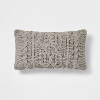 Oversized Cable Knit Chenille Throw Pillow - Threshold™