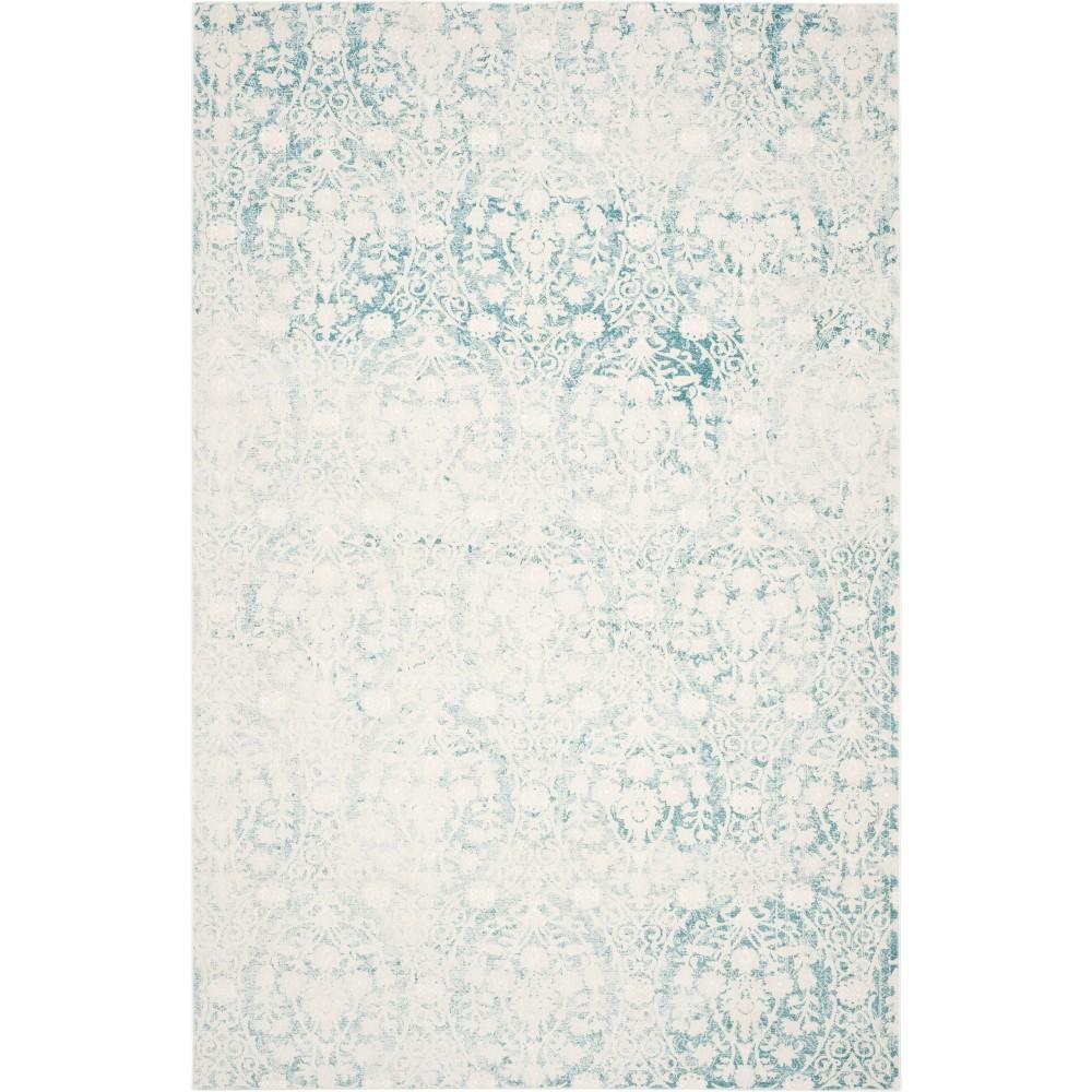 Medallion Loomed Area Rug Turquoise/Ivory
