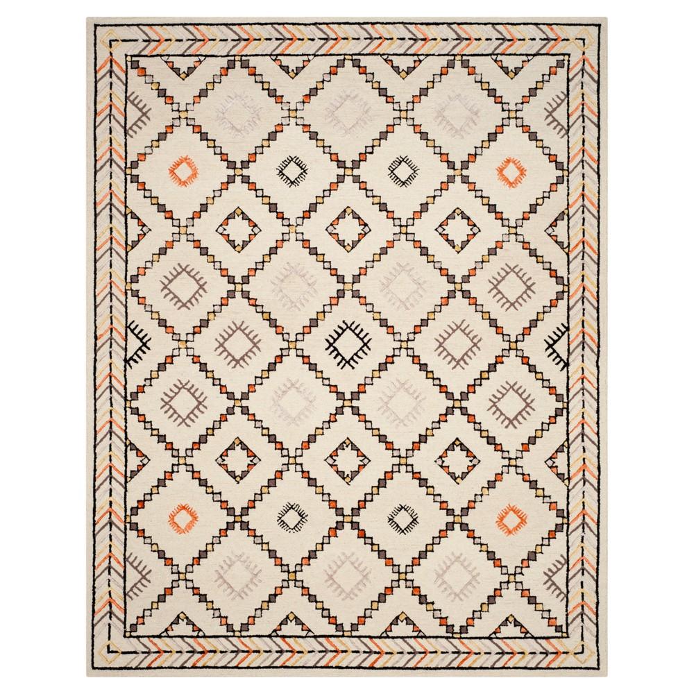 Ivory Geometric Tufted Area Rug 8'x10' - Safavieh, White