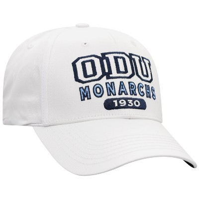 NCAA Old Dominion Monarchs Men's White Twill Structured Snapback Hat