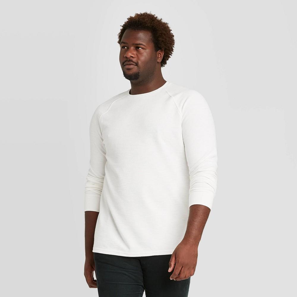 Best Men's Big & Tall Standard Fit Long Sleeve Textured Crew Neck T-Shirt - Goodfellow & Co™