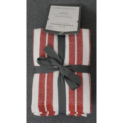 4pk Antimicrobial Dishcloths Red - Threshold™