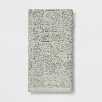 Geo Sculpted Hand Towel Green - Project 62™