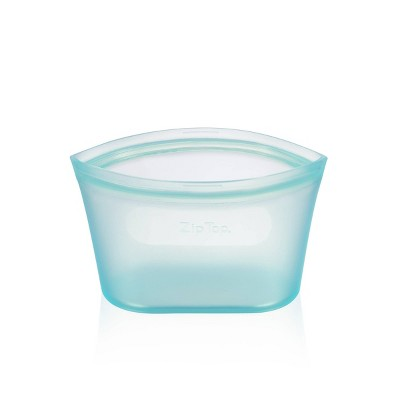 Zip Top 16oz Reusable 100% Platinum Silicone Container - Small Dish - Teal