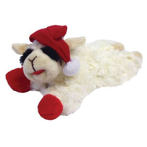 Multipet Lamb Chop Santa Dog Toy - image 1 of 2