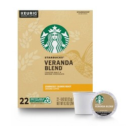 Starbucks Veranda Light Roast Coffee - Keurig K-Cup Pods - 22ct