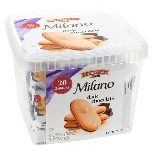 Pepperidge Farm Milano Dark Chocolate Cookies 20ct Target