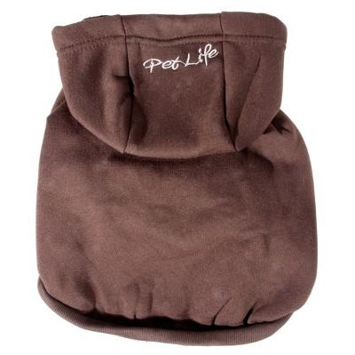 Fashion Plush Cotton Pet Hoodie Hooded Sweater - Brown - S