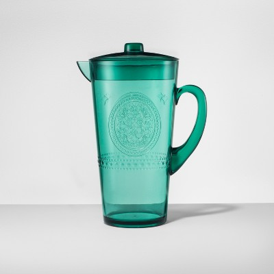 Plastic Beverage Pitcher 66oz Green - Opalhouse™