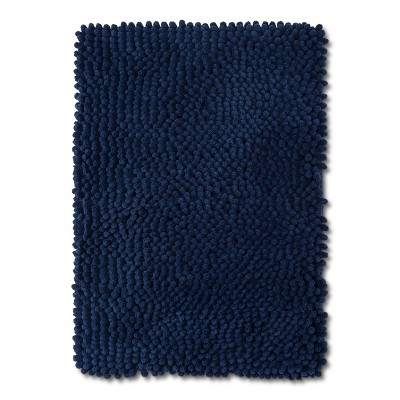 24  x 17  Chunky Chenille Memory Foam Bath Rug Nighttime Blue - Room Essentials™