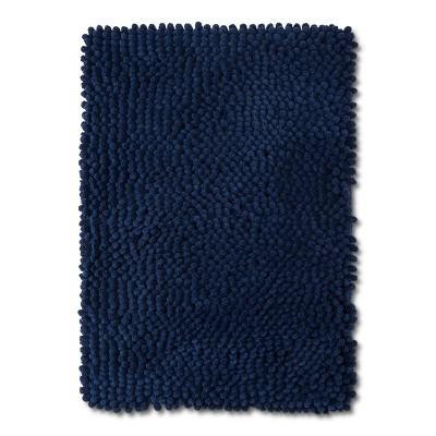 24  x 17  Chunky Chenille Memory Foam Bath Rug Nighttime Blue - Room Essentials™