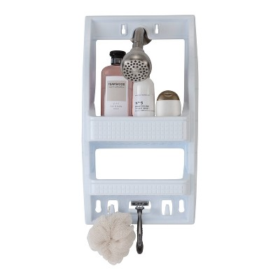 Flexi Shower Caddy Shelf White - Bath Bliss