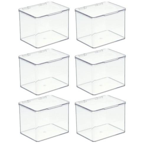 Mdesign Stackable Plastic Office, Office Storage Bins