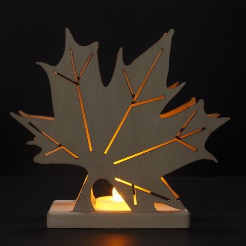 Hand Made Modern Unfinished Craft Leaf White Target