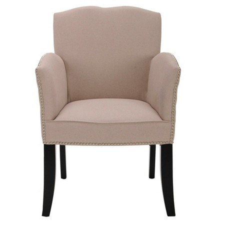 Rachel Arm Chair Soft Taupe - Safavieh® - image 1 of 2