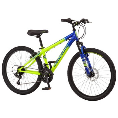 "Mongoose Scepter 24"" Kids' Mountain Bike - Green/Blue"