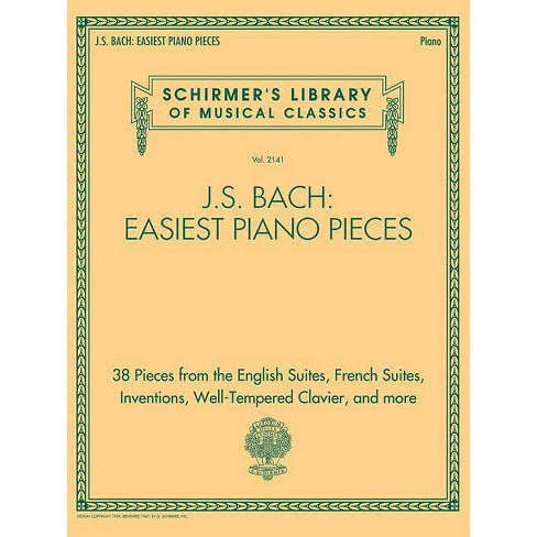 J.S. Bach: Easiest Piano Pieces - (Paperback) - image 1 of 1
