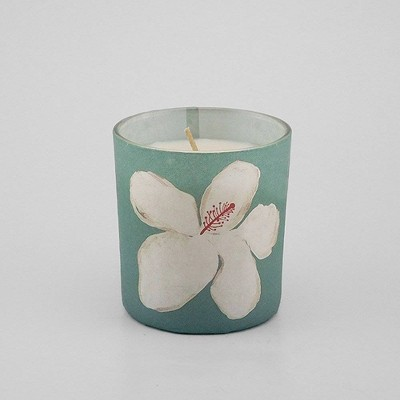 5.2oz Paper Wrapped Flower Jar Candle Aloha Hibiscus - Opalhouse™