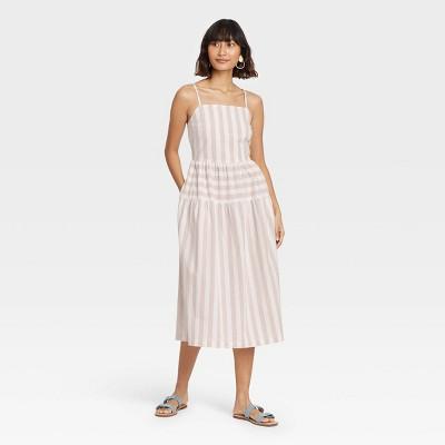 Women's Striped Tiered Tank Dress - Universal Thread™