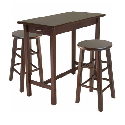 Dining Sets with Counter Stools Wood/Walnut - Winsome