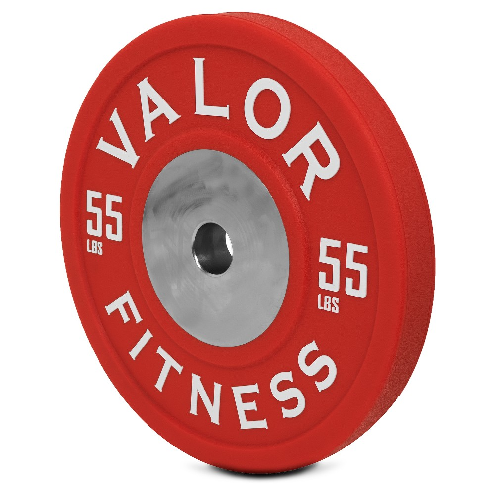 Valor Fitness Bppu-55 Bumper Plate Polyurethane 55lb, Red
