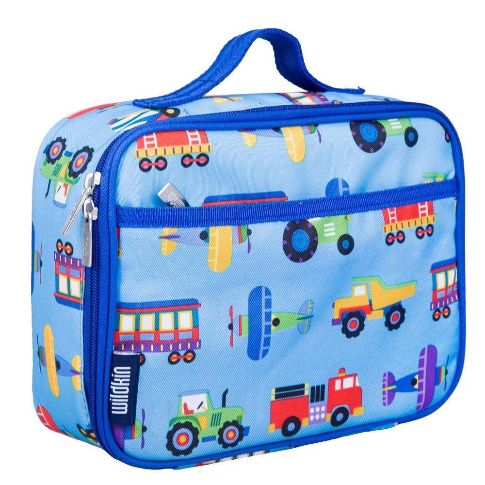 Wildkin Olive Kids 39 Trains Planes 38 Trucks Lunch Box