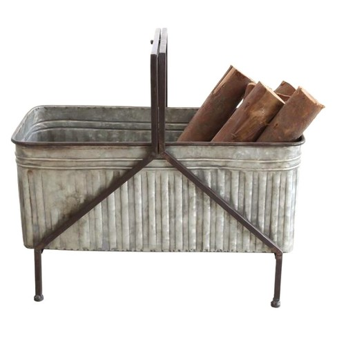 Iron Bucket Planter On Stand - 3R Studios - image 1 of 2