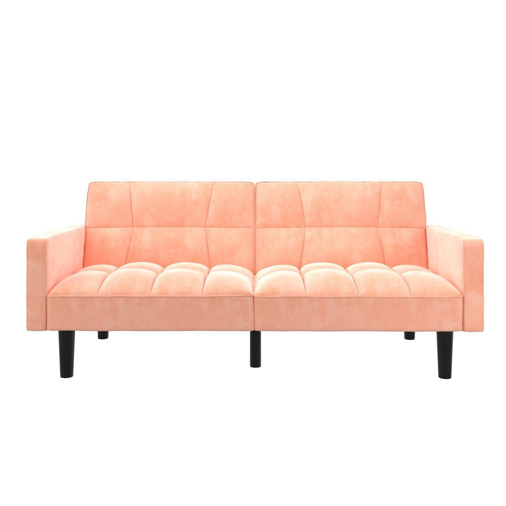 Holly Convertible Sofa Sleeper Futon With Arms Pink - Room & Joy