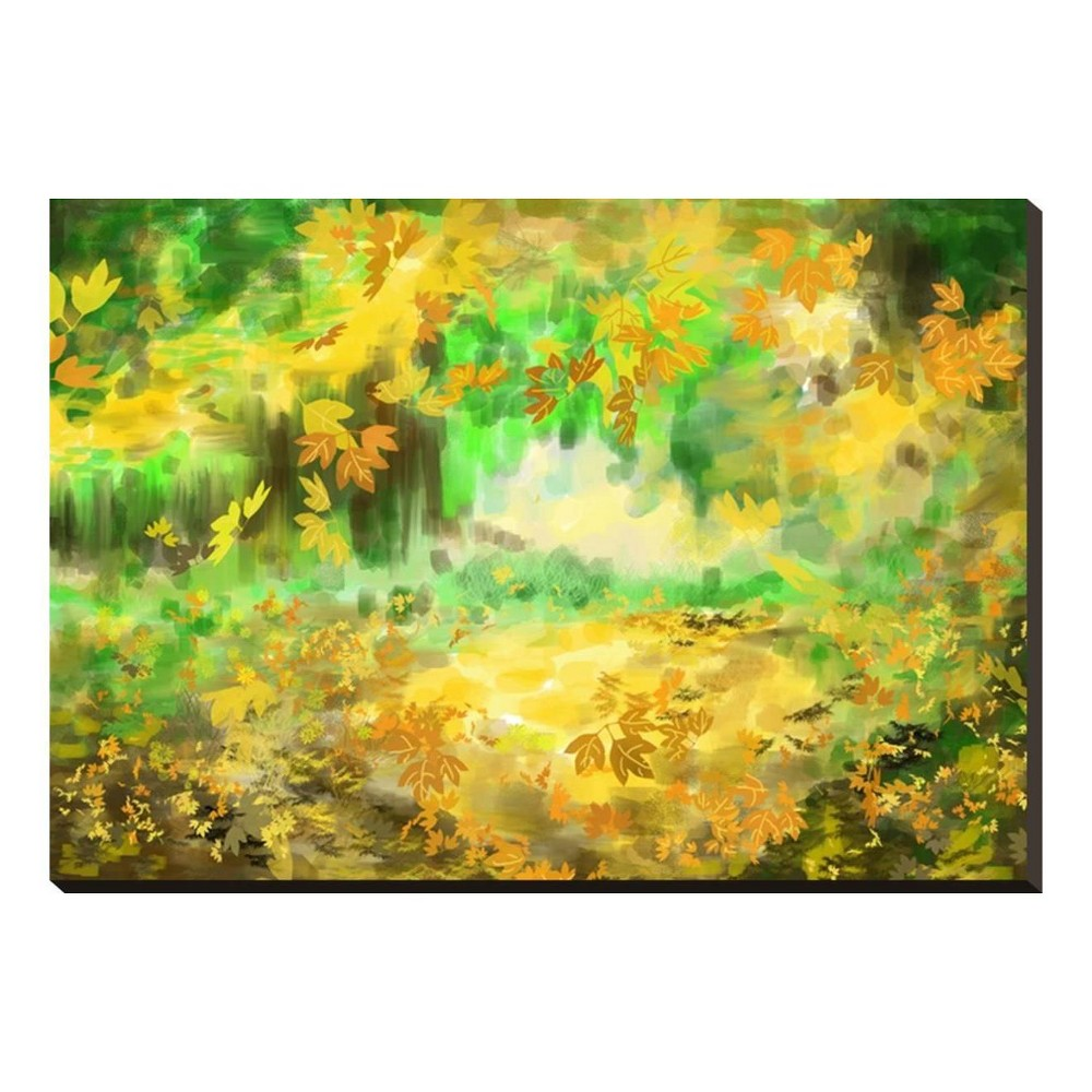 Image of Autumn Background By Jim Stretched Canvas Print 20x14 - Art.com, Multicolored