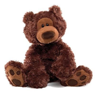 GUND Philbin Teddy Bear 12-Inch Plush - Chocolate Brown