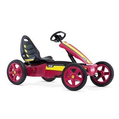 BERG Rally Pearl Childrens Toy Pedal Go Kart with Adjustable Seat and Steering Wheel for Boys Girls Kids Ages 4 to 12, Multicolored