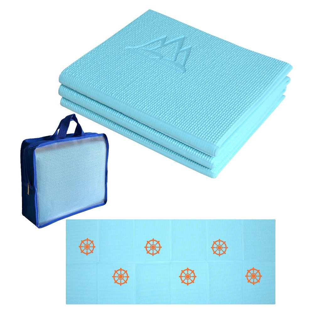 Kids Folding Yoga Mat - Sky Blue