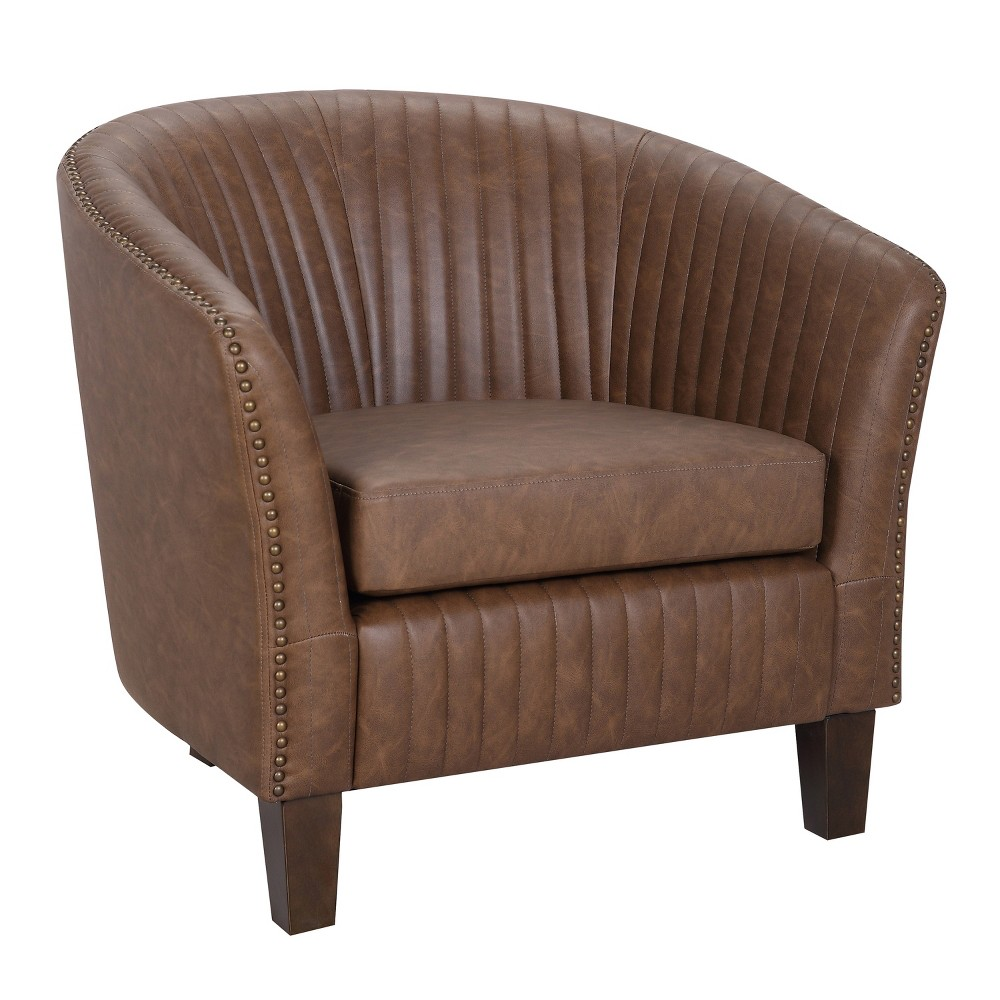 Shelton Contemporary Club Chair Brown - LumiSource