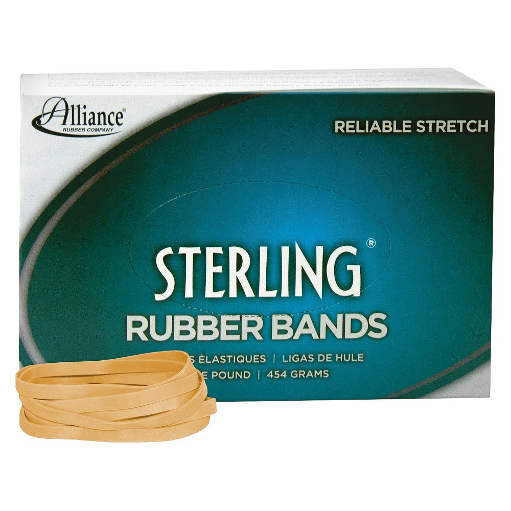 Image of Alliance Sterling Ergonomically Correct Rubber Bands, #64, 3-1/2 x 1/4, 425 Bands/1lb Box
