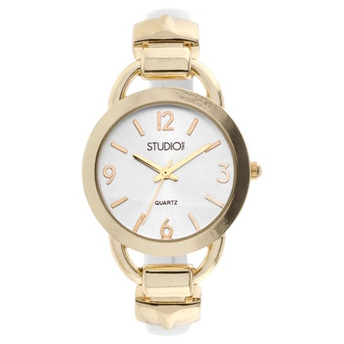 Women's Studio Time® Bangle Watch - Gold - image 1 of 1