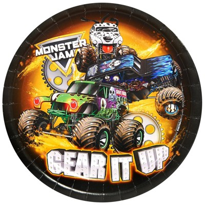 Monster Jam 8ct Disposable Plates