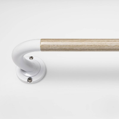 "28 - 48"" Blackout Curtain Rod Natural Wood/White - Pillowfort™"