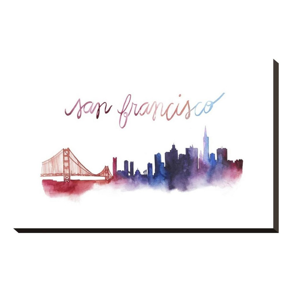 World Cities Skyline I Stretched Canvas Print 24x16 - Art.com, Multicolored