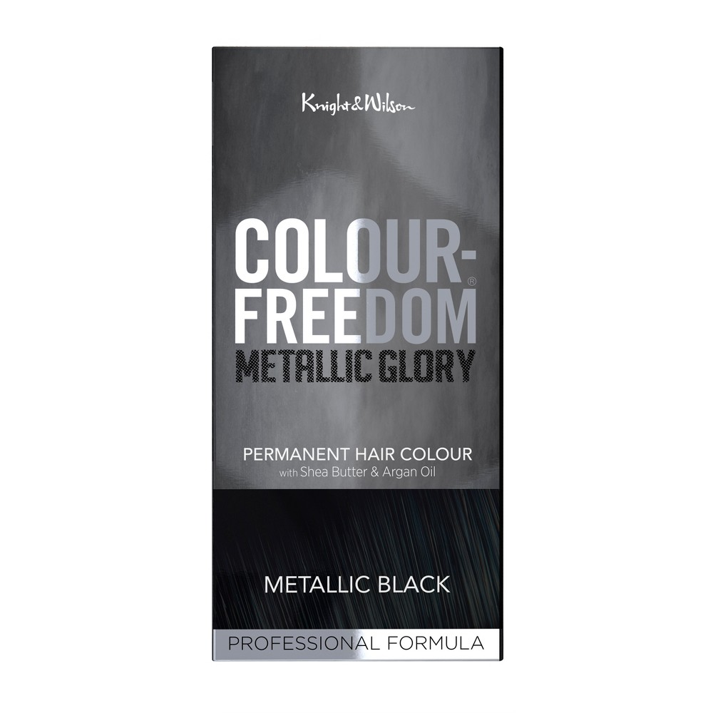 Image of Knight & Wilson Color Freedom Metallic Glory Permanent Hair Color - Metallic Black - 4.7 fl oz