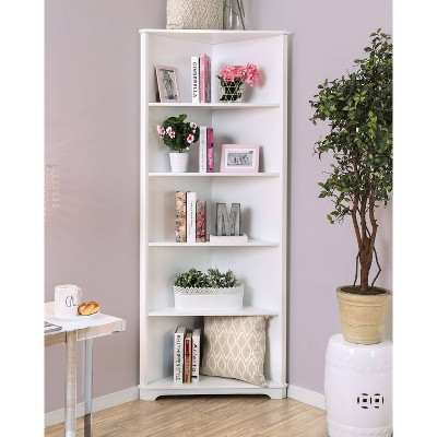 "78"" Iohomes Mcafee Contemporary 5 Tier Corner Bookshelf : Target"