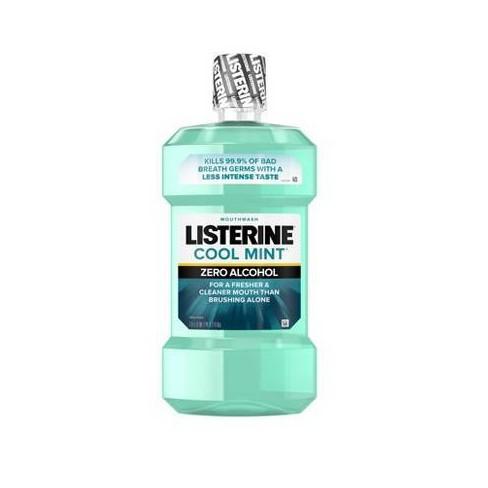 Listerine Zero Cool Mint Alcohol-Free Mouthwash - 50.72 fl oz - image 1 of 4