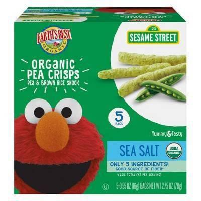 Baby & Toddler Snacks: Earth's Best Pea Crisps