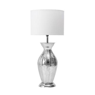 """nuLOOM Gardner 22"""" Iron Table Lamp Lighting - Nickel 22"""" H x 10"""" W x 10"""" D"""