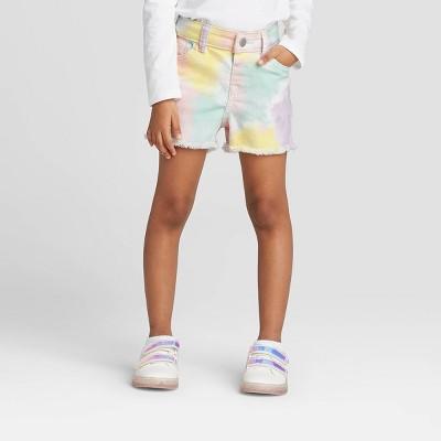 Toddler Girls' Tie-Dye Cutoff Jean Shorts - Cat & Jack™ 12M