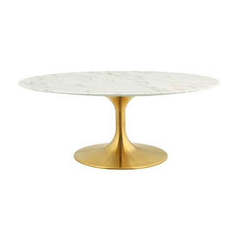 42 Lippa Oval Shaped Coffee Table Gold