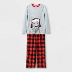 Boys' Fox Pajama Set - Cat & Jack™ Heather Gray/Red