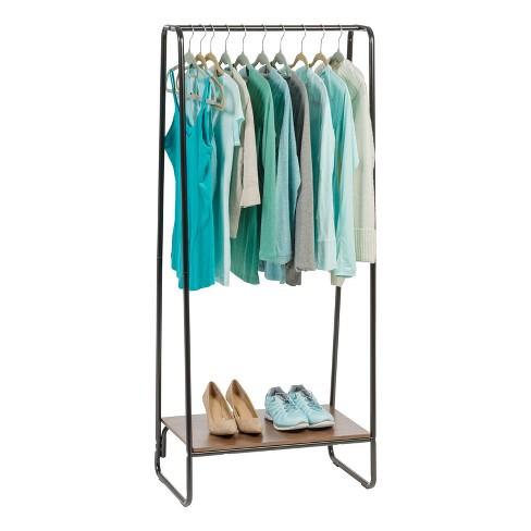 24de5bfbfc1 IRIS Garment Rack With Wood Shelf   Target
