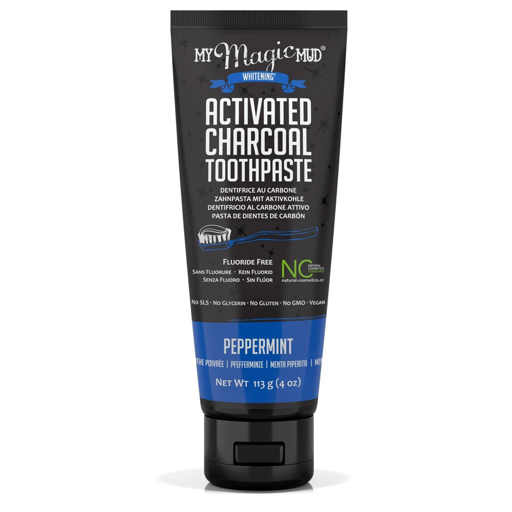 Image of My Magic Mud Activated Charcoal Toothpaste Peppermint - 4oz